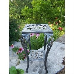 Oakland Living Hummingbird Table Plant Stand in Antique Pewter