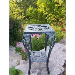 Oakland Living Hummingbird Table Plant Stand in Verdi Grey