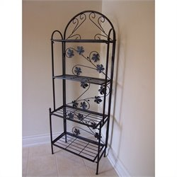 Oakland Living Sun Valley Bakers Rack in Black