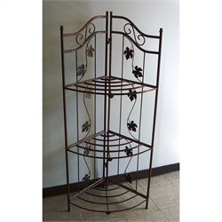 Oakland Living Sunrise Bakers Rack in Antique Bronze