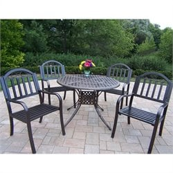 Elite 5 Piece Metal Patio Dining Set