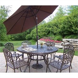 7 Piece Metal Patio Dining Set