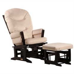 Dutailier Modern Glider and Ottoman Set in Espresso 6