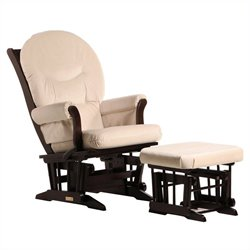 Dutailier Sleigh GliderReclinerMultiposition and Ottoman in Espresso