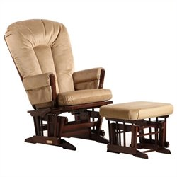 Dutailier 2 Post Glider and Ottoman Set in Coffee