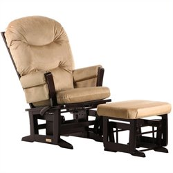 Dutailier Modern Glider and Ottoman Set in Espresso 2