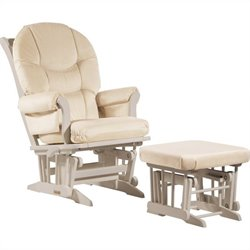 Dutailier Sleigh GliderReclinerMultiposition and Ottoman