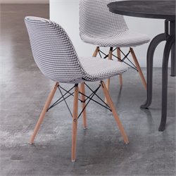 ZUO Sappy Dining Chair in Houndstooth