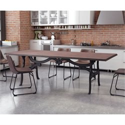 ZUO Bellevue Dining Table in Distressed Natural
