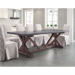 ZUO Durham Dining Table in Gray and Distressed Fir