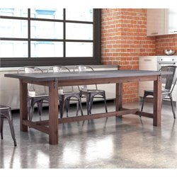 ZUO Greenpoint Dining Table in Gray and Distressed Fir