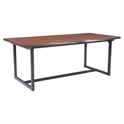 ZUO Papillion Dining Table in Distressed Cherry Oak