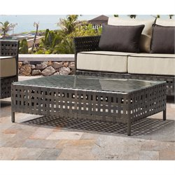 ZUO Pinery Patio Coffee Table in Brown