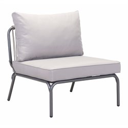 ZUO Pier Outdoor Armless Chair in Gray