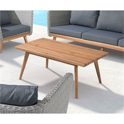 ZUO Grace Bay Patio Coffee Table in Natural