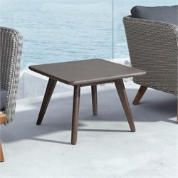 ZUO Daughter Square Patio Coffee Table in Cement and Natural