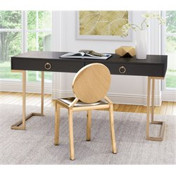 Zuo Revell Desk in Black and Brass
