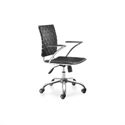 Zuo Criss Cross Office Chair Black