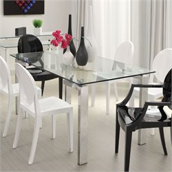 Zuo Roca Casual Dining Table with Glass Top