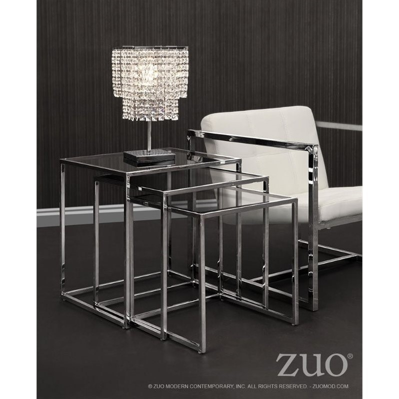 Zuo Pasos Nesting Table in Clear