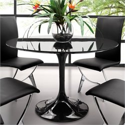 Zuo Wilco Round Dining Table in Black
