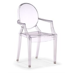 Zuo Anime Acrylic Chair in Transparent