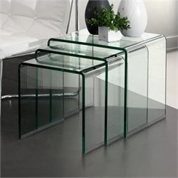 Zuo Explorer Nesting Tables with Clear Glass
