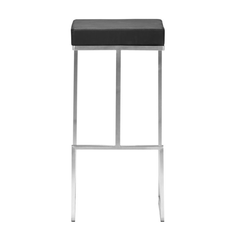 ZUO Darwen Modern Leatherette Bar Chair in Black