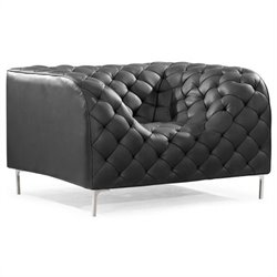 Providence Modern Leatherette Arm Chair