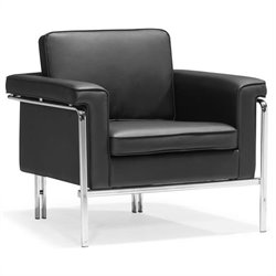 Singular Modern Leatherette Arm Chair