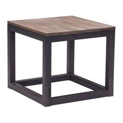 Zuo Civic Center Side Table in Distressed Natural