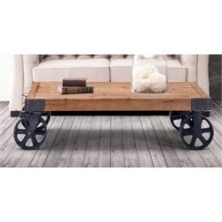 ZUO Barbary Coast Coffee Table in Distressed Natural