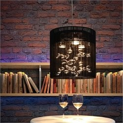 Zuo Subatomic Ceiling Lamp in Black