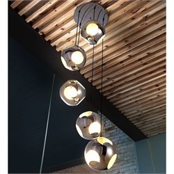 Zuo Meteor Shower Ceiling Lamp in Chrome