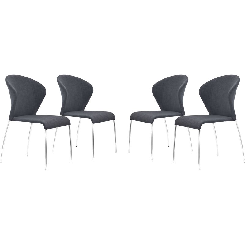 Zuo Oulu Dining Chair in Graphite