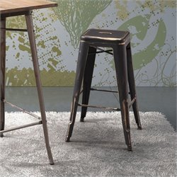 Zuo Marius Bar Chair in Antique Black Gold
