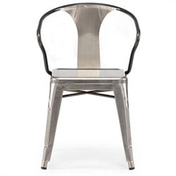 Zuo Helix Dining Chair in Gunmetal
