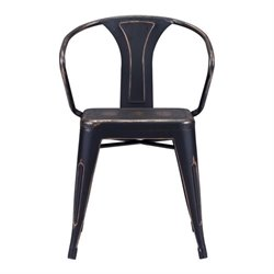 Zuo Helix Dining Chair in Antique Black Gold