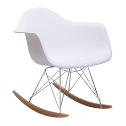 Zuo Rocket Rocking Chair in White