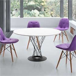 Zuo Spiral Dining Table in White