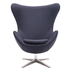 Zuo Skien Armchair in Iron Gray