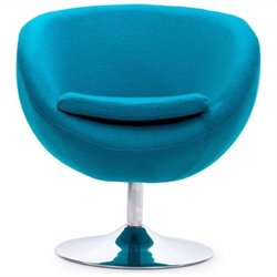Zuo Lund Armchair in Island Blue