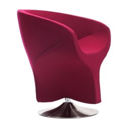 Zuo Kuopio Barrel Armchair Carnelian in Red