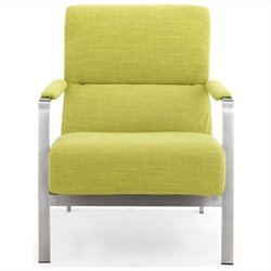 Zuo Jonkoping Fabric Arm Chair in Green