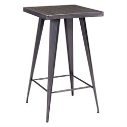 Zuo Olympia Pub Table in Gunmetal