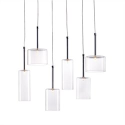 Zuo Hale Ceiling Lamp in Clear