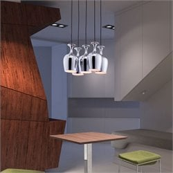 Zuo Ice Ceiling Lamp in Chrome