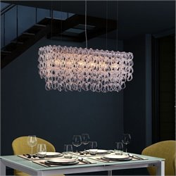 Zuo Jet Stream Ceiling Lamp in Clear