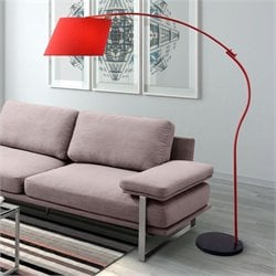 Zuo Derecho Floor Lamp in Red