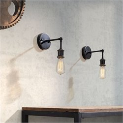 Zuo Miserite Wall Lamp Antique in Black Gold